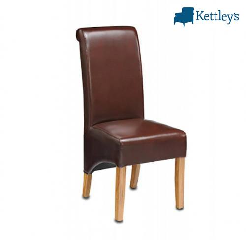Nouveau Living Collection Roll Top Leather Chair Image