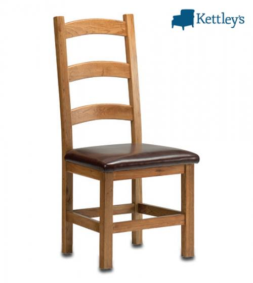 Philippe Oak Rustic Ladder Back Chair Image