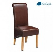 Philippe Roll Top Leather Chair Image