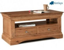 Philippe Solid Oak Rustic Coffee Table Image