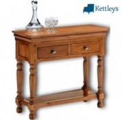 Philippe Solid Oak Rustic Console Image