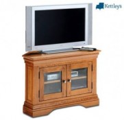 Philippe Solid Oak Rustic Corner TV Unit Image