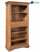 Philippe Solid Oak Rustic Large Bookcase Image