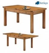 Philippe Solid Oak Rustic Large Farmhouse Extending Table Image