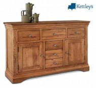 Philippe Solid Oak Rustic Large Sideboard Image