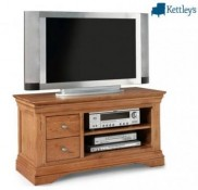 Philippe Solid Oak Rustic Plasma TV Unit Image