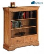 Philippe Solid Oak Rustic Small Bookcase Image