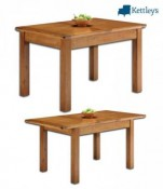 Philippe Solid Oak Rustic Small Farmhouse Extending Table Image
