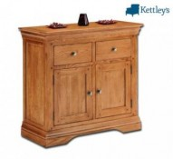 Philippe Solid Oak Rustic Small Sideboard Image