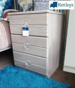 SJ Units Oyster Range 3 Drawer Bedside Image